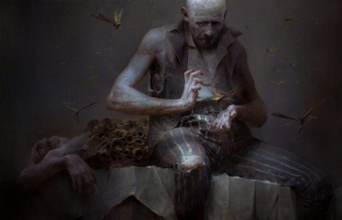 Dishonored 2 Serkonan Legends Paintings piotr jablonski bloodfly nest keeper s