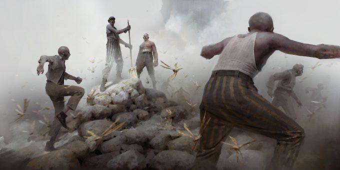 Dishonored 2 Serkonan Legends Paintings piotr jablonski workers and bloodflies s
