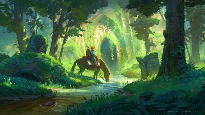 Legend-of-Zelda-Link-Fan-Art-Concept-Illustration-01-Jeremy-Fenske-Link-Forest-Temple