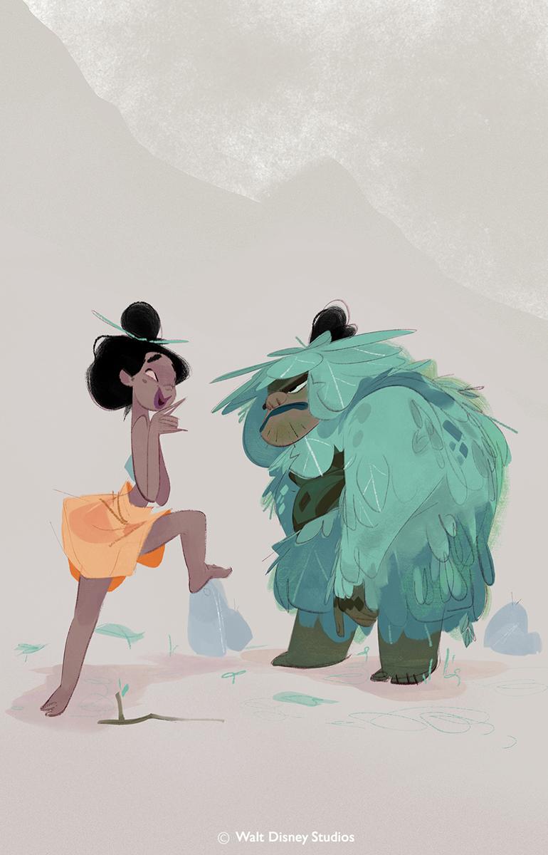 Moana Disney Character Design : James woods concept art world