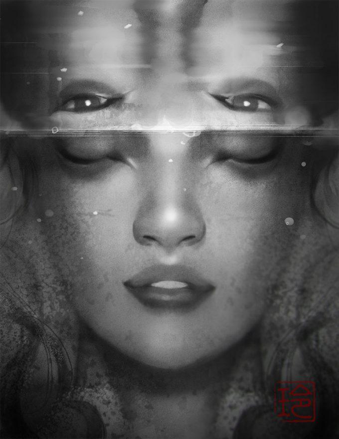 reiko murakami art illustration mirror