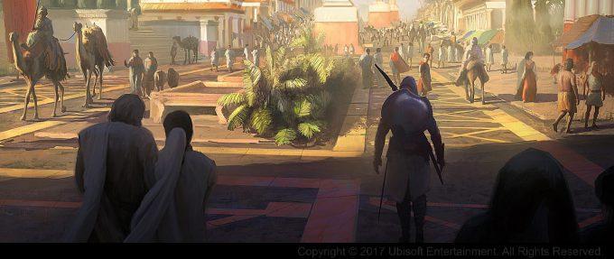 Assassins Creed Origins Concept Art Gilles Beloeil entree alexandrie