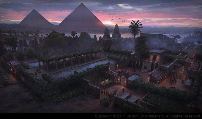 Assassins Creed Origins Concept Art Gilles Beloeil ev ferme papyrus