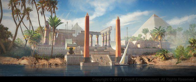 Assassins Creed Origins Concept Art Gilles Beloeil ev gizah port sacre
