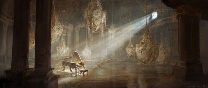 Beauty and the Beast Concept Art Disney Karlsimon Ballroom neglected L