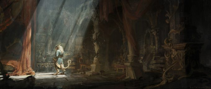 Beauty and the Beast Concept Art Disney Karlsimon Beast lair 04 L