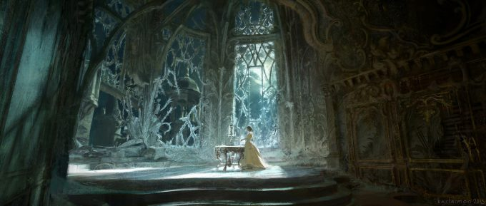 Beauty and the Beast Concept Art Disney Karlsimon Beast lair 05 L