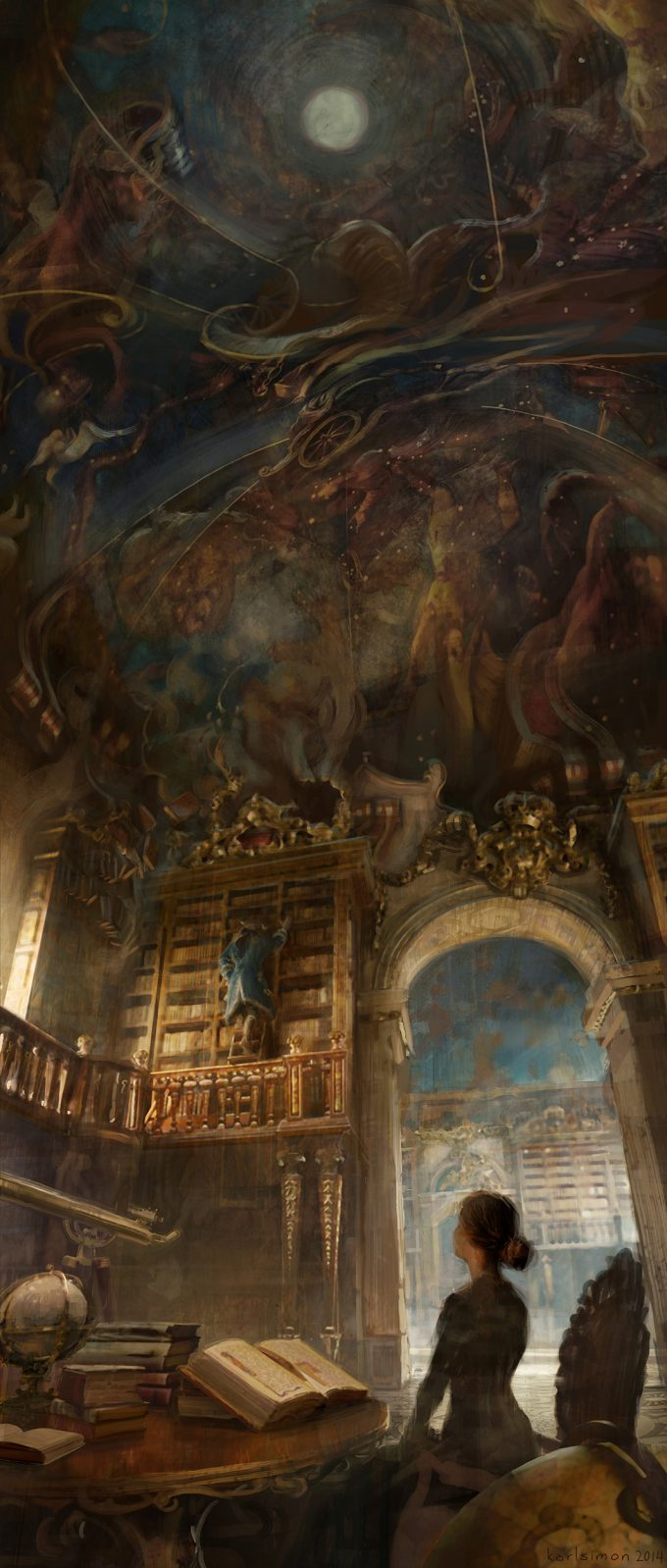 Beauty and the Beast Concept Art Disney Karlsimon Library L