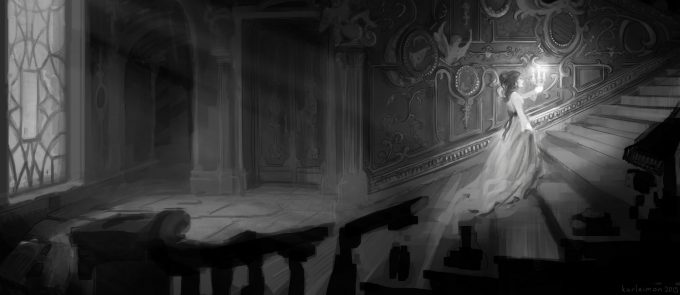 Beauty and the Beast Concept Art Disney Karlsimon beast lair sketch 07 L