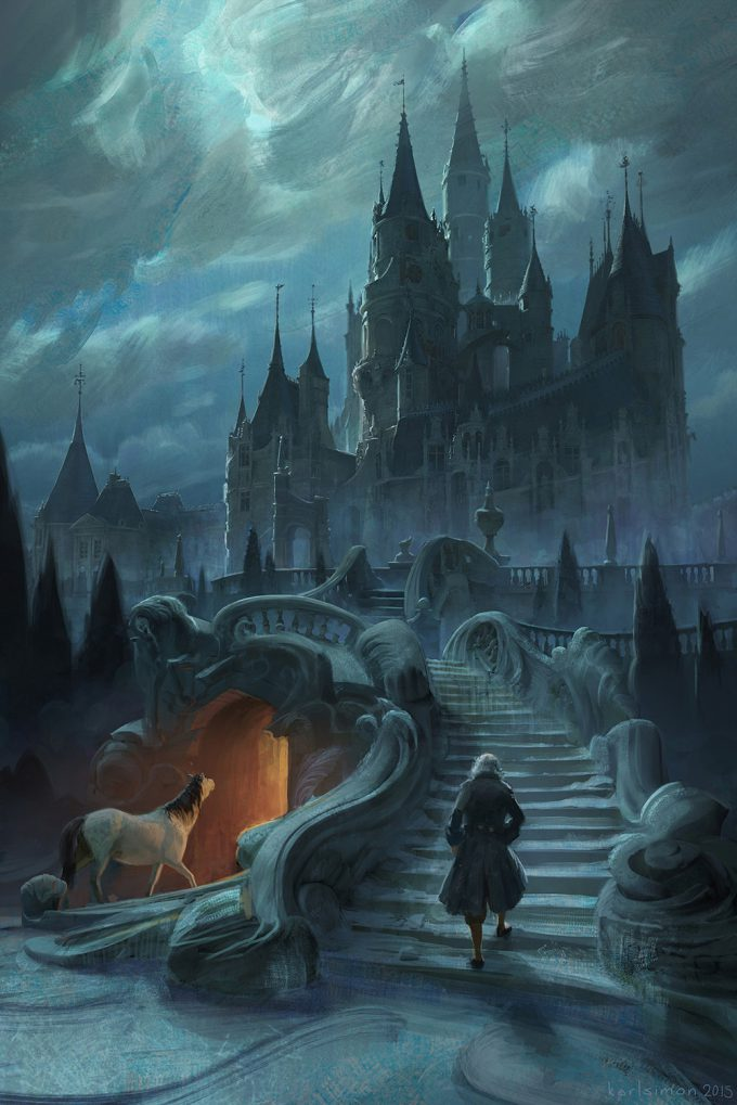 Beauty and the Beast Concept Art Disney Karlsimon castle exterior 03 L