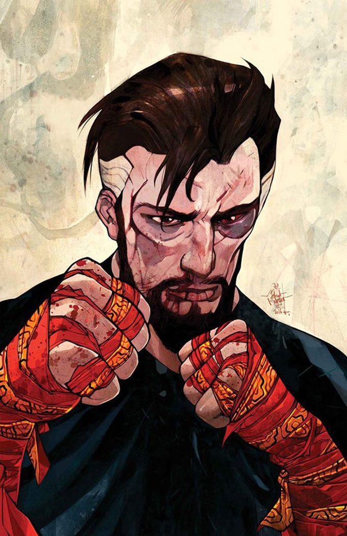 Doctor Strange 26 comic book cover art Jakub Rebelka 01