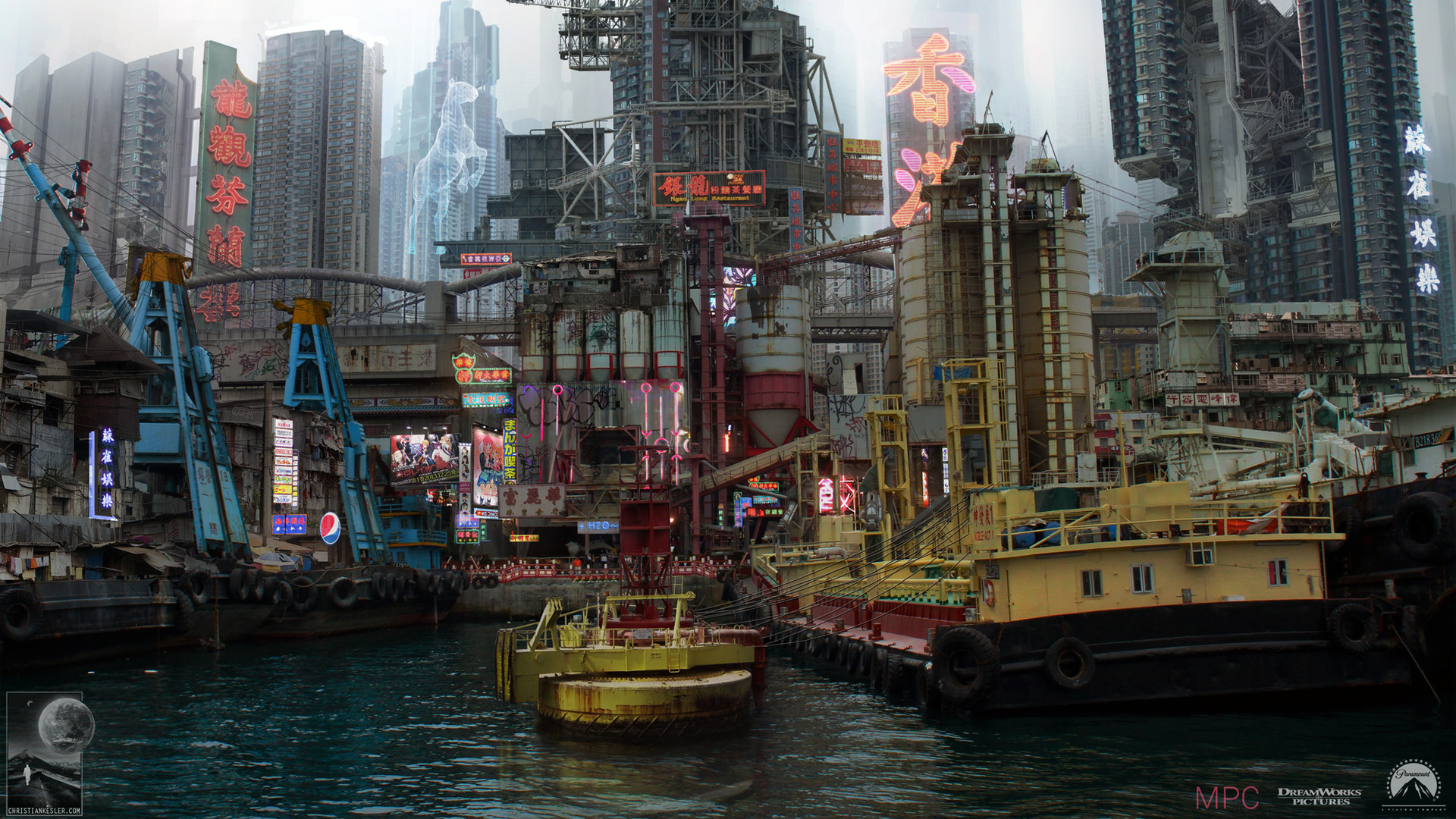 Ghost In The Shell Concept Art By Chris Kesler Concept Art World