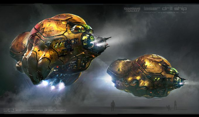 Guardians of the Galaxy Vol 2 Concept Art George Hull Laser Drill Ship 02