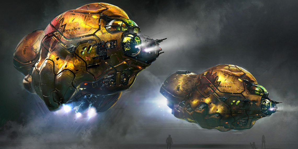 Guardians of the Galaxy Vol 2 Concept Art George Hull Laser Drill Ship M01