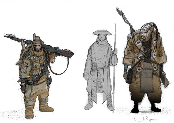 Star Wars Rogue One Concept Art Jake Lunt Baze Chirrut 02