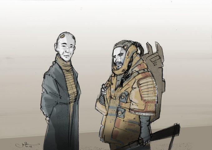 Star Wars Rogue One Concept Art Jake Lunt Baze Chirrut 03