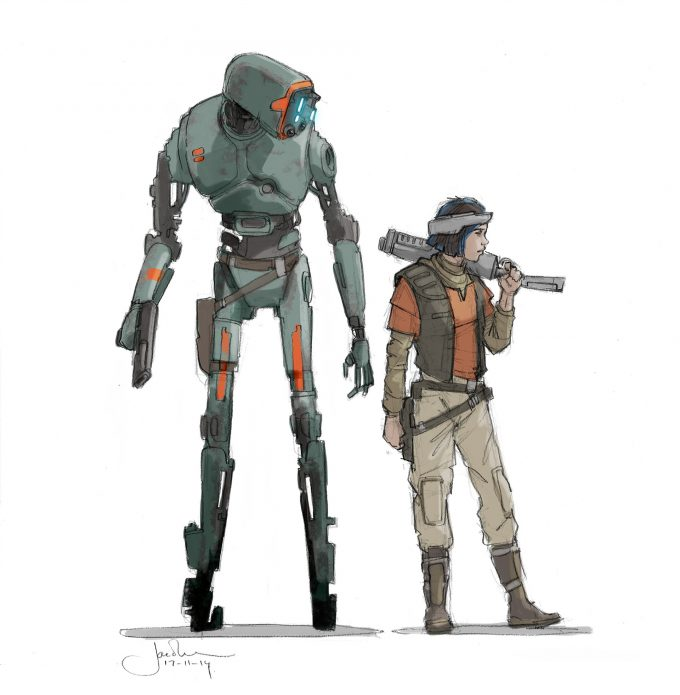 Star Wars Rogue One Concept Art Jake Lunt K2S0 02