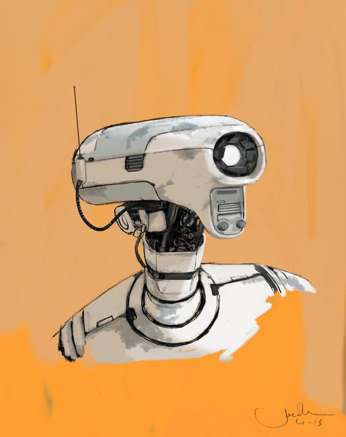 Star Wars Rogue One Concept Art Jake Lunt SE 2 Droid 01