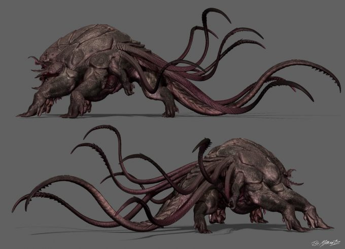 guardians of the galaxy vol 2 concept art JSM Monster ortho 1