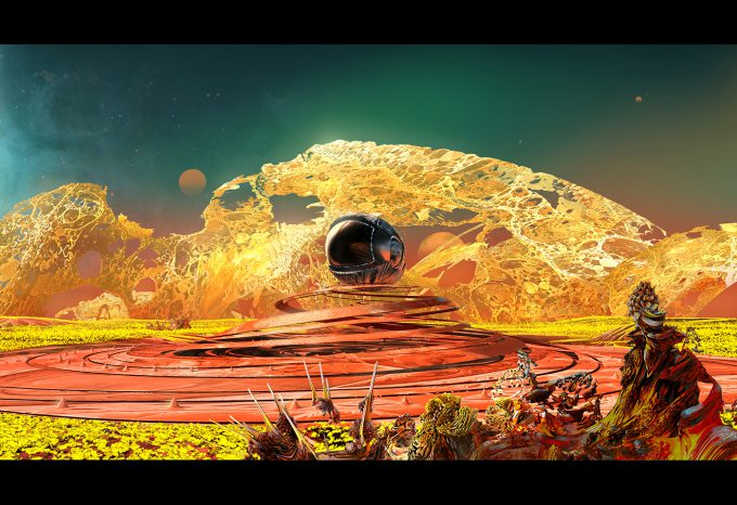 guardians of the galaxy vol 2 concept art JB 1232 Vfx JsonLandscapeEXT 160120 Spiral Landing Sketch 3