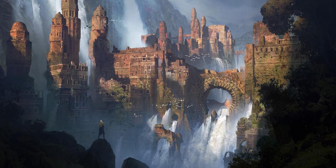 ivan laliashvili concept art waterfalls M01