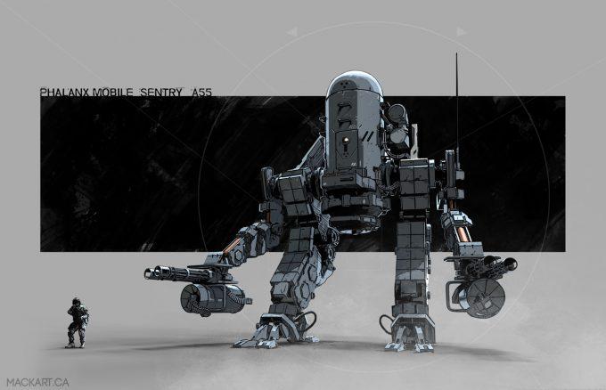 mack sztaba concept art automated sentry drone