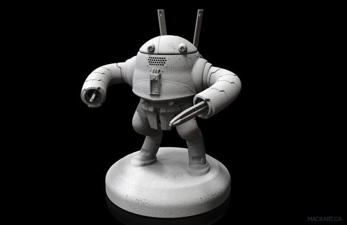 mack sztaba concept art toy render