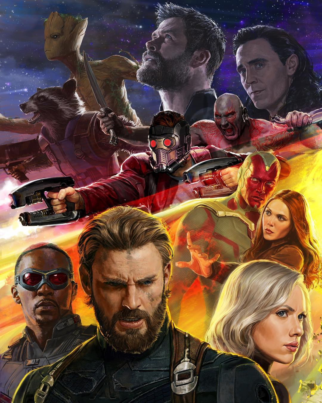 Avengers: Infinity War 2017 SDCC Poster Art By Ryan