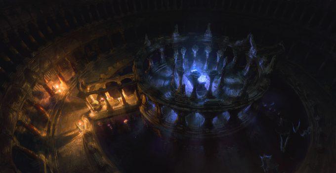 SpellForce 3 Concept Art Raphael Lubke enviroment dungeon andras room1