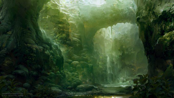 SpellForce 3 Concept Art Raphael Lubke enviroment jungle scene 1