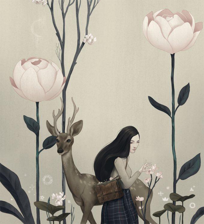 Zach Montoya art illustration Botanist