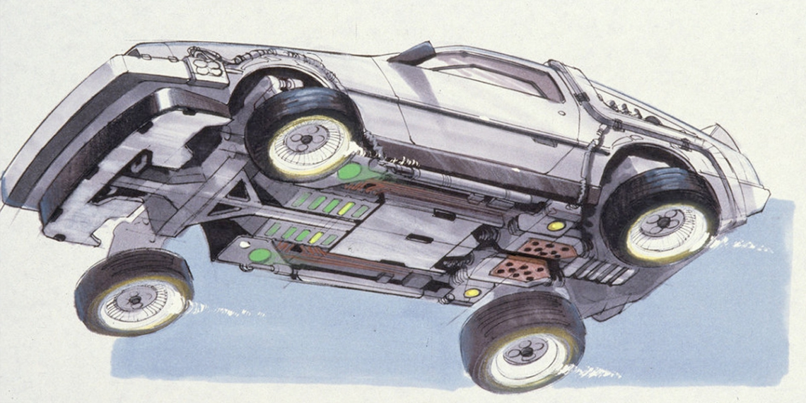 Back to the Future Part 2 concept art illustration John Bell Studio M01