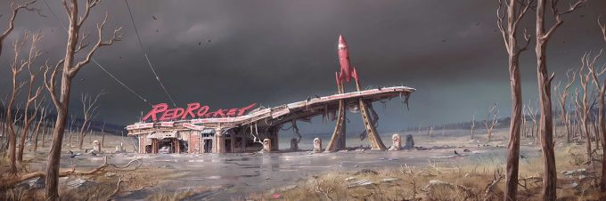 Fallout 4 concept art IN environment 01