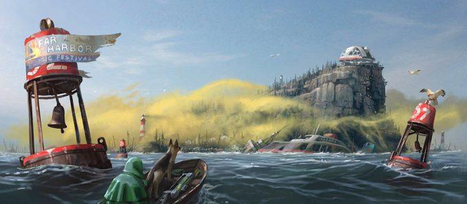 Fallout 4 concept art IN far harbor