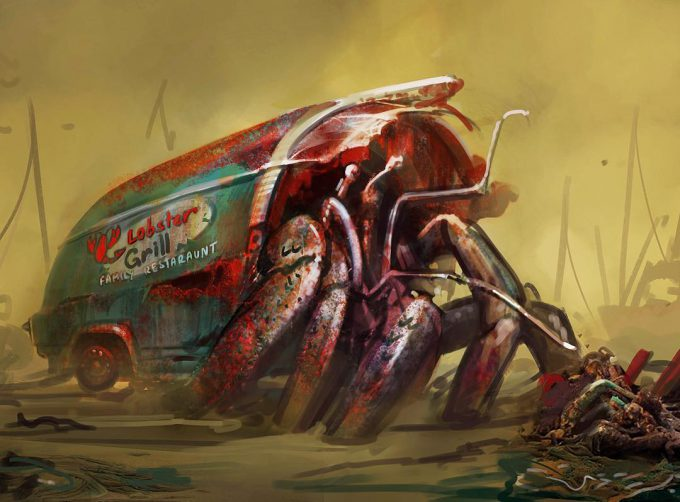 Fallout 4 concept art IN hermit crab monster