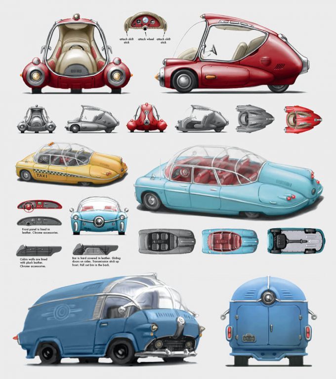 Fallout 4 concept art IN vehicles 01
