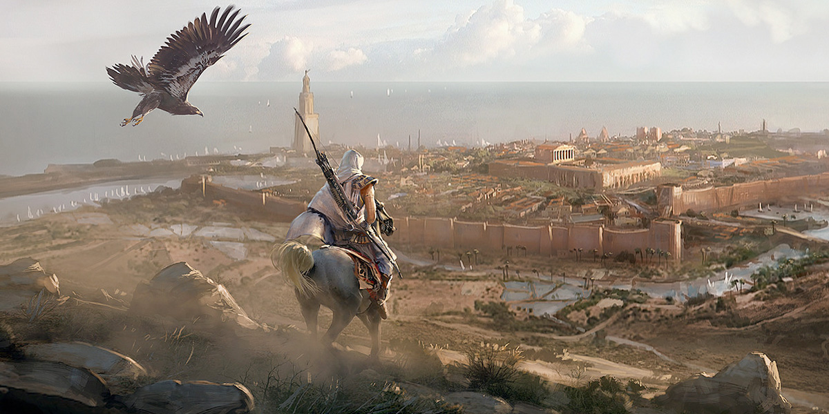 Assassin S Creed Origins Concept Art By Martin Deschambault