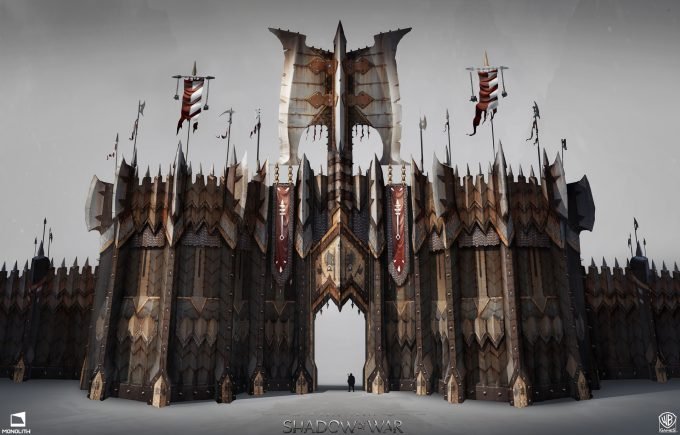 Middle earth Shadow of War Concept Art george rushing gates warmonger