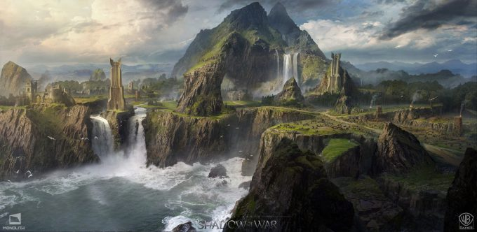 Middle earth Shadow of War Concept Art george rushing island 01