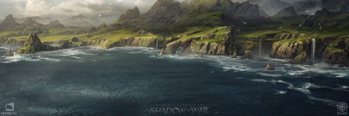 Middle earth Shadow of War Concept Art george rushing island vista 01