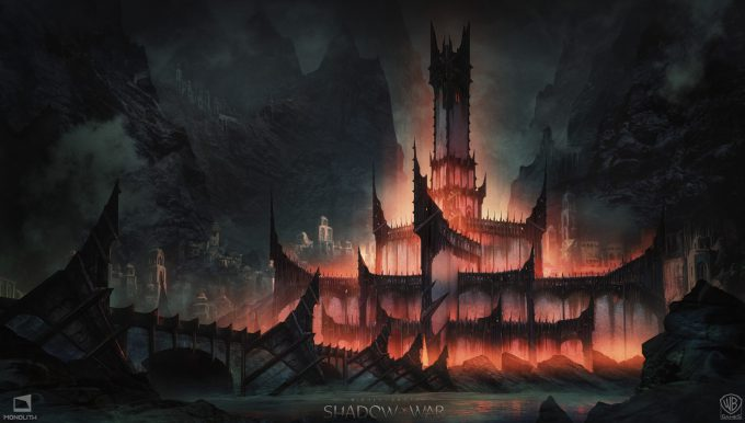 Middle earth Shadow of War Concept Art george rushing minas morgul 1
