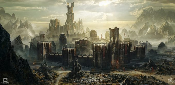 Middle earth Shadow of War Concept Art george rushing warmongerstronghold