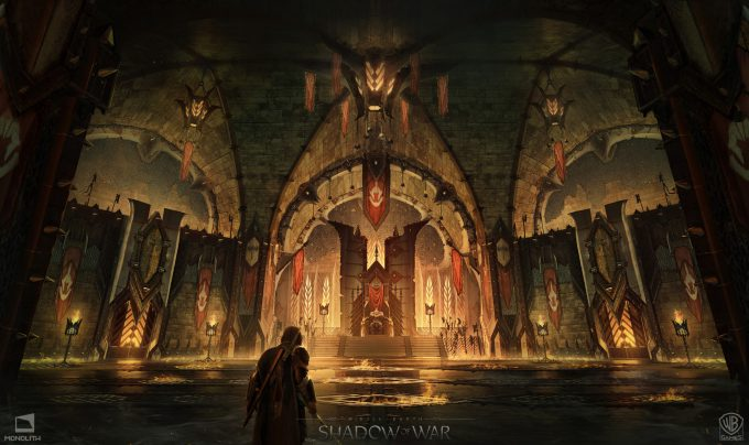 Middle earth Shadow of War Concept Art george rushing warmongerthrone