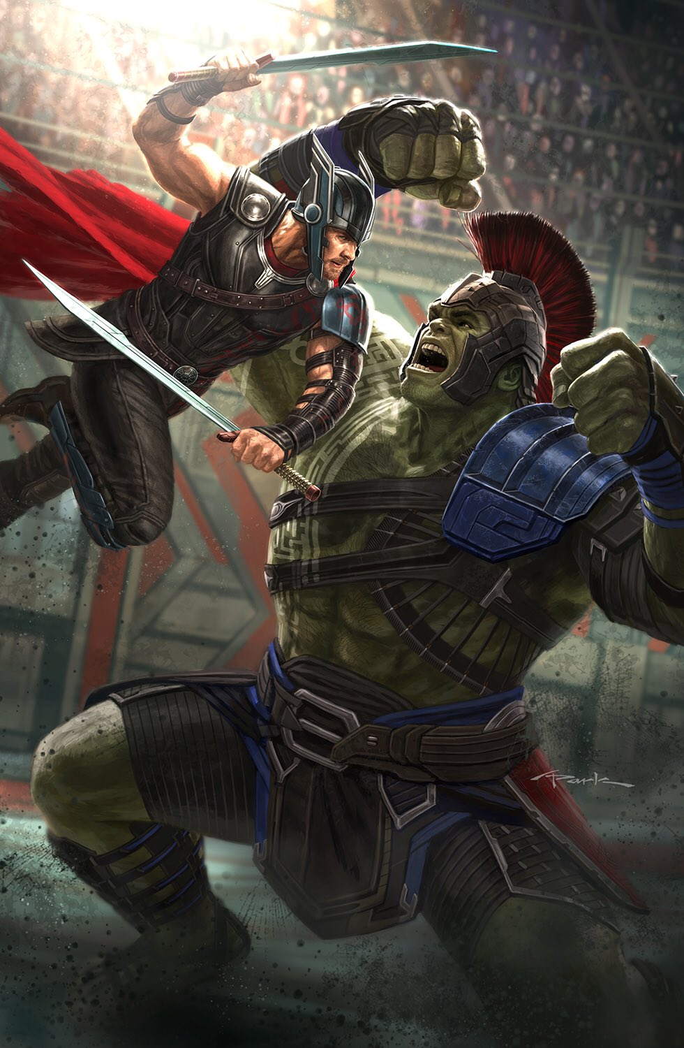 Thor ragnarok concept art and illustrations by andy park - Thor art wallpaper ...