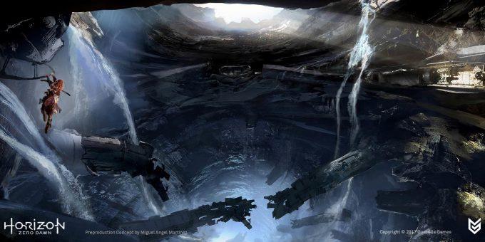 Horizon Zero Dawn Concept Art bunker Miguel Angel Martinez