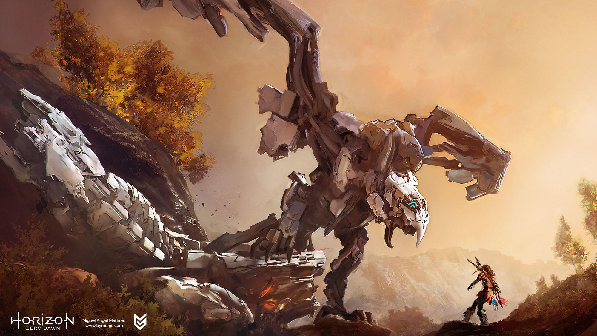 Horizon Zero Dawn Concept Art By Miguel Angel Martinez