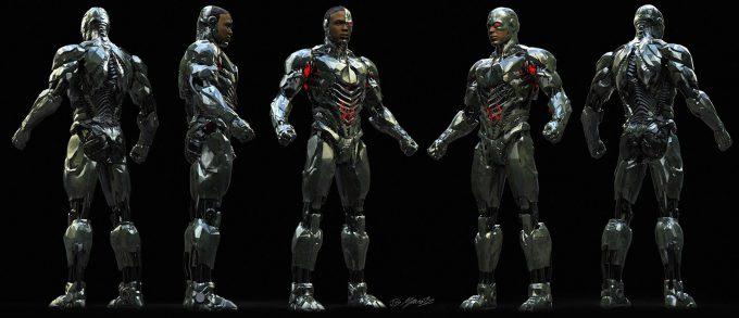 Justice League Concept Art Jerad Marantz Cyborg Ortho full 2