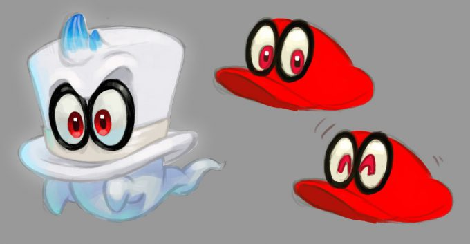 Nintendo Super Mario Odyssey Concept Art final design Cappy