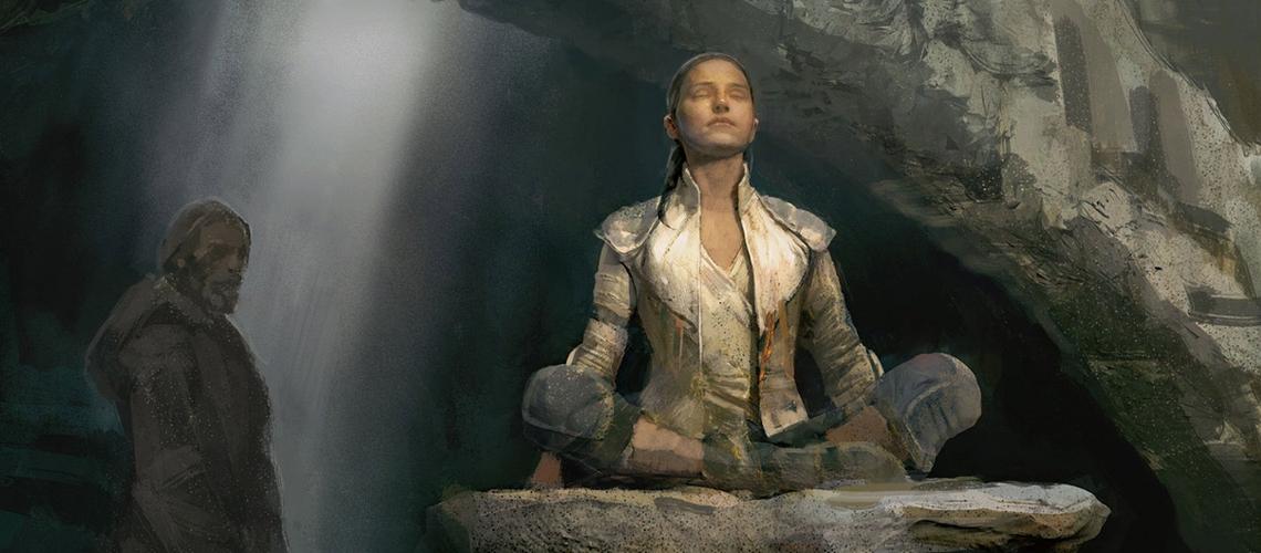 Star Wars The Last Jedi concept art justin sweet Rey Meditate M01