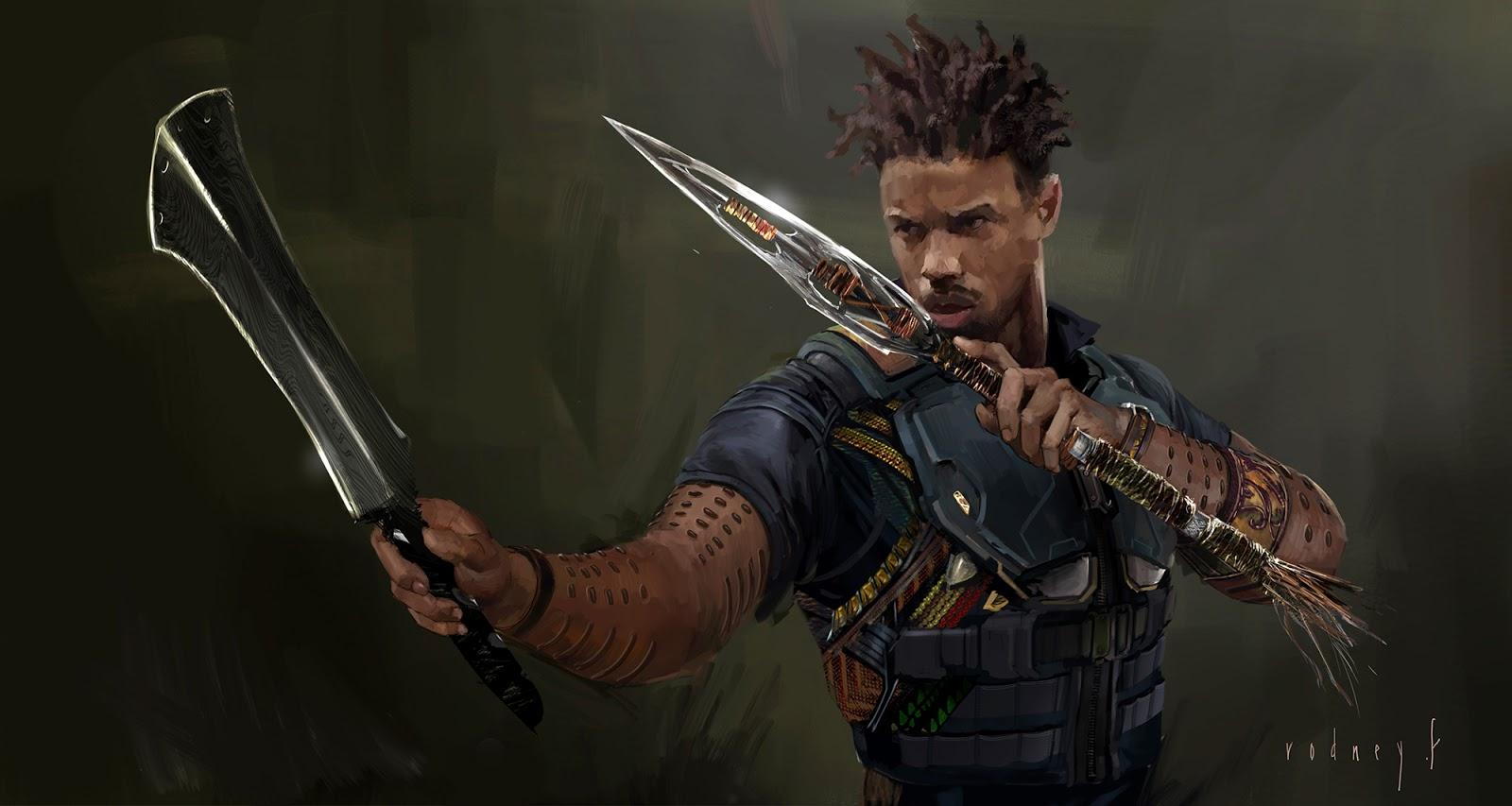Black Panther Concept Art Rodney Fuentebella Erik Killmonger
